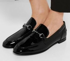 Gucci patent leather loafers