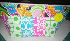 Quilted make-up bag. For sale on Etsy. DesignsByDebby55