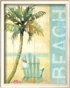 The perfect spot... sitting in an Adirondack chair under a palm tree: http://beachblissliving.com/beach-word-art-blue/
