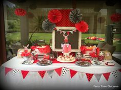 """Photo 1 of 21: Olivia the Pig in Red, Black, & White / Birthday """"Cumple de Elisa""""   Catch My Party"""