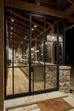 Rustic kitchen + Steel doors = Perfection!