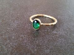 SALE! Oval Emerald Ring, Thin Stackable Ring, Gemstone Ring,Stacking Ring,Green Ring, Bridal Ring,Gold Ring by CandySimpleJewelry on Etsy https://www.etsy.com/listing/212674060/sale-oval-emerald-ring-thin-stackable