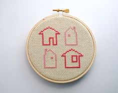 Tiny Houses Cross Stitch