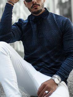 Hajotrawa Mens Slim Lapel Neck Long Sleeve Printed Curved Hem Button Down Shirts