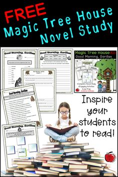 Free Magic Tree House Novel Study Everything you need to complete this Magic Tree House novel study with your students. Comprehension questions and end of novel activities. 2nd Grade Books, 3rd Grade Reading, Guided Reading, Second Grade, Free Reading, Comprehension Questions, Reading Comprehension, Free Novels, Free Books
