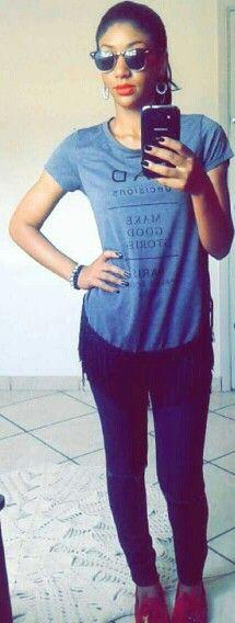 #blusa alongada com franja!!!