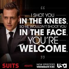 USA Network Original Series - Suits stars Patrick J. Adams as Michael Mike Ross and Gabriel Macht as Harvey Specter working at a law firm in NYC. Serie Suits, Suits Tv Series, Suits Tv Shows, Suits Show, Boss Quotes, Tv Quotes, Movie Quotes, Smart Quotes, Funny Quotes