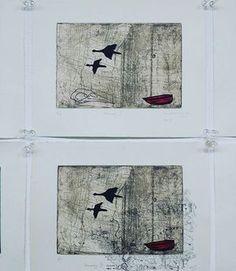 Brisbane Institute of Art end of semester show 2016. Winner of best student work is Sandra Taylor. Exquisite etchings! #brisbaneart #brisbaneinstituteofart #etching #printmakingaustralia