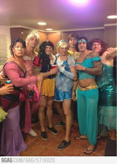 Disney Princesses. Nailed it.  LMAO omg @Christine Smythe Smythe Psaila can we do this with the girls dressed as guys?