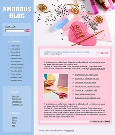 Blog Love WordPress Themes by Di