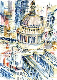Urban Sketchers London: Sketching London from a height!
