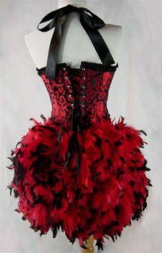 Mouin Rouge Costume Showgirl Costume Burlesque Costume Drag Queeen Costume Feather Corset Costume