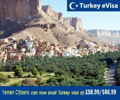 #turkeyevisa Visa fees for #Yemen £58.99/$86.99 includes evisa-turkey-tr.org's service charge of £28 + #government fees