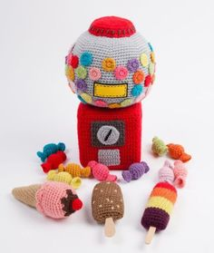 キャンディーポット あみぐるみ かぎ針編み物