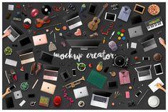 Multi Hero Header Mockup Creator by Maulana Creative on @creativemarket