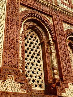 Wall Detail ~ Qutb Minar Complex, South Delhi, India | ©Rodrigo Nunes