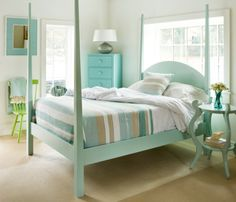 Calvin Bed    Maine Cottage #colorfulfurniture