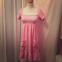 Juicy Couture Terry Cloth Dress Pink Terry Cloth Dress with JC Monogram on the pocket . Juicy Couture Dresses