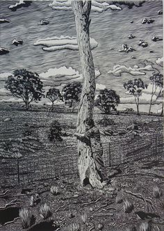 david frazer artist - Google Search DAVID FRAZER Holding On, Linocut, Image Size: 69 x 49, Print Year