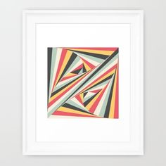 'Twiangle' by Fimbis  #yellow #red #green #charcoal #fashion #geometric #wallart #framedart #homedecor #interiordesign