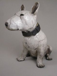 Ronnie Gould: Bull Terrier Seated with Collar