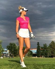 Golf Tips For Women Karin Hart lookin bright in pink - Girls Golf, Ladies Golf, Women Golf, Golf With Friends, Sexy Golf, Golf Tips For Beginners, Golf Wear, Golf Humor, Female Athletes
