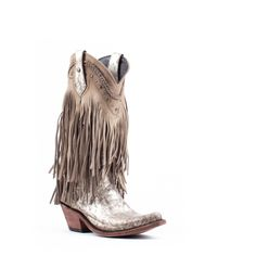b09fb82a4 Women's Liberty Black Fringe Boots Buffed Metal #LB-71124-BUFF – Allens  Boots