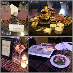 Blueberry Mojitos and a Macaroni Bar at Chapel at Ana Villa. A great pair for your reception at our venue! #blueberrymojito #macaroni #waltersweddingestates #weddings #plano #frisco #thecolony #dfw