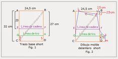Taller N° 48 Pantalón dama, Shorts, Moldes | Modistería Básica Short Niña, Diy Shorts, Couture, Fig, Sewing Crafts, Sewing Ideas, Diy And Crafts, Boxers, Google