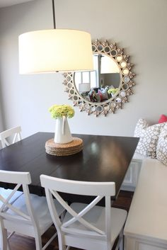 Small dining table corner
