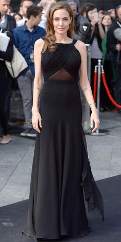 Angelina Jolie's Best Red Carpet Looks Ever - In Saint Laurent, 2013 from #InStyle
