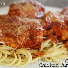 (Slow Cooker) Chicken Parmesean