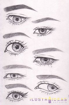 EYES DRAWING ¿Quieres aprender a dibujar ojos? Te enseñamos a dibujar ojos de personas animadas paso a paso.
