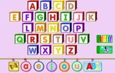 Desde esta página podréis repasar el alfabeto en inglés, indicado para E. Infantil y 1º Ciclo