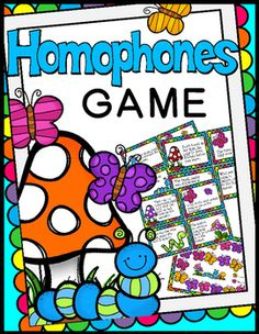 Spring Themed Homophones Game(words that sound the same but are spelled…