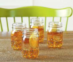 Polka Dot Mason Jar Drinking Glass