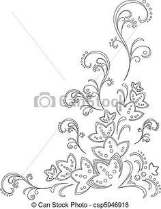 Wektor - Abstrakcyjny, kwiat, tło, kontur - zbiory ilustracji, ilustracje royalty free, zbiory ikon klipart, zbiór ikon klipart, logo, sztuka, obrazy EPS, obrazki, grafika, grafik, rysunki, rysunek, obrazy wektorowe, projekt graficzny, EPS wektor graficzny