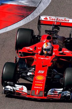 2017/5/1:Twitter:@ScuderiaFerrari:Double podium as #Seb5 ends P2 and #Kimi7 P3 and Seb is well ahead in the Drivers Championship! #RussianGP #ForzaFerrari
