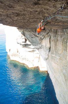 Climbing one of the world's hardest cracks in Malta. Read the full story at blog.eddiebauer.com