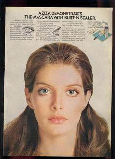 Aziza cosmetics AD - Rene Russo - 1980