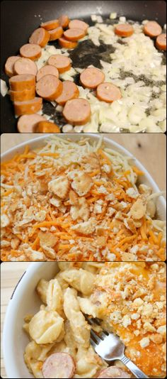 Mac & Cheese with Apple and Sausage. This will be so delicious!