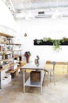 Bash Please Studio I Amanda Totoro Design Workspace Inspiration, Interior Inspiration, Kitchen Inspiration, Kitchen Ideas, Home Office, Garage Studio, Interior Decorating, Interior Design, Home And Deco