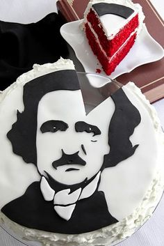 Edgar Allen Poe cake @Vanessa Hoffman. I think we have a good present idea for Mrs. Ray next year...