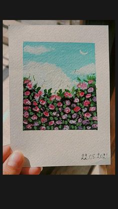 Small Canvas Paintings, Flower Painting Canvas, Mini Canvas Art, Watercolor Art Lessons, Art Painting Gallery, Watercolor Flowers, Watercolour, Art Drawings For Kids, Aesthetic Painting