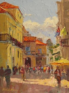 Colors of Cuba - 12 x 9 - oil painting from Havana, Cuba http://michelebyrne.com/collections/53880