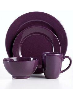 Waechtersbach Dinnerware, Plum Collection - Casual Dinnerware - Dining & Entertaining - Macy's Bridal and Wedding Registry Purple Dinnerware, Casual Dinnerware, Dinnerware Sets, Purple Kitchen, Kitchen Colors, Purple Home, All Things Purple, Shades Of Purple, Purple Colors