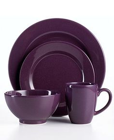 Purple Dishware. I might have a thing for the color purple!