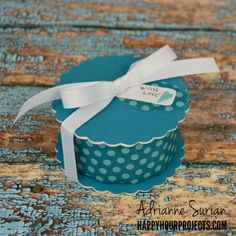 When it's colder outside, we tend to spend more time inside, either in the kitchen, or in our craft rooms. Adrianne Surian combined these two places with this Baked Goods Gift Box idea, using Eileen Hull's Cookie Box for a few fresh-baked cookies to give to a friend. Food plus crafting equals heaven!