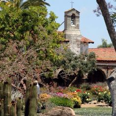 Mission San Juan Capistrano in Southern California.