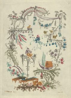 Designed by Jean Pillement, Chinoiserie from Nouvelle Suite de Cahiers Arabesques Chinois, Etched by Anne Allen (British, born 1749/50–?1808), 1790–99, The Metropolitan Museum of Art